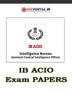 SSC ACIO Exam Papers