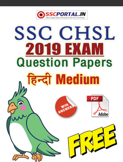 SSC CHSL HINDI 2019 Papers