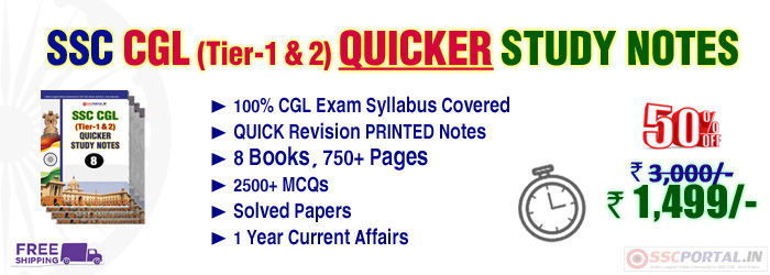 SSC CGL QUICKER STUDY NOTES