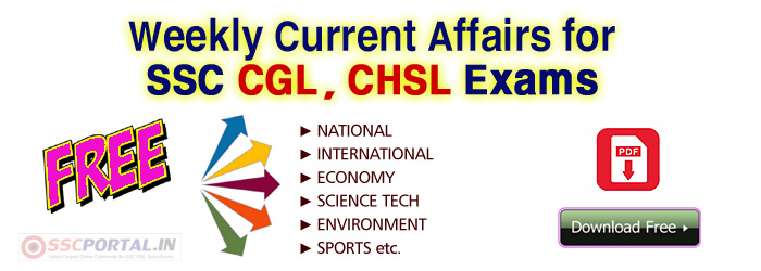 WEEKLY-Current-Affairs SSC CGL